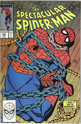 The Spectacular Spider-Man Comic Book #145 Marvel 1988 NEAR MINT NEW UNREAD
