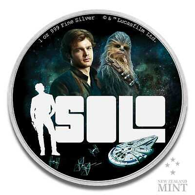 1 Once Star Wars™ Solo: A Wars Story™ 2018 Pièce D'Argent - New Zealand Mint