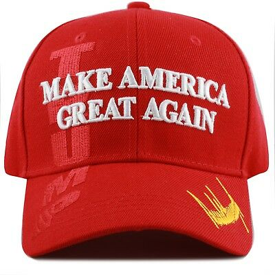 "Trump Cap Hat  ""Make America Great Again"" 3D -Red"