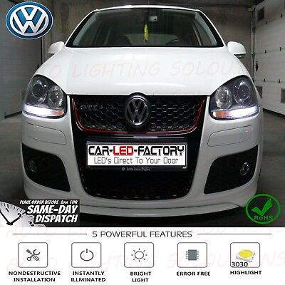 VW SAMSUNG Strong Canbus High Power PURE WHITE 6500K 14k Gold Sidelight Bulbs