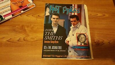 Hot Press 1987 - The Smiths Cover -  Irish Music Magazine Ireland Morrissey