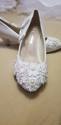 White Wedding Shoes for Women, BRAND NEW, Size 8(US)