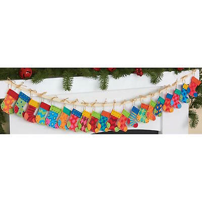 Dimensions Felt Garland Applique Kit Christmas Advent Stockings 8280