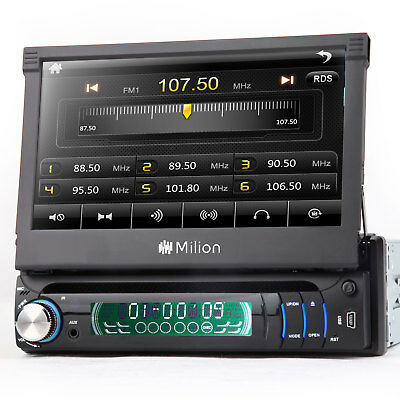 """7"""" Single 1 Din Car Stereo Radio DVD Player Touch Screen Multimedia I Bluetooth"""