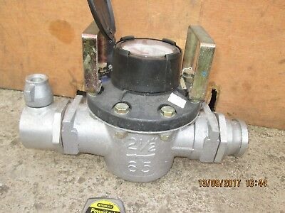 """WATER METER -  WITH    2 1/2"""" inch / 65 mm - FIRE HOSE - PUSH FIT CONNECTIONS"""