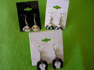 Shih Tzu Dog Earrings