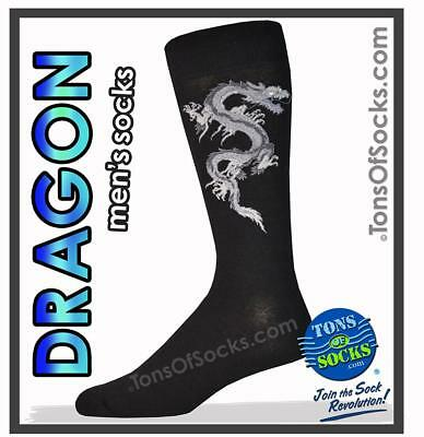 Men's Dragon Socks (Grey)
