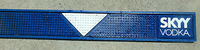 "SKYY VODKA Runner Blue White Liquor Rubber Bar Mat Drip Spill 23""X3"" Brand NEW *"