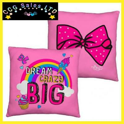 Official JoJo Siwa Bow Crazy Reversible Square Pillow Cushion