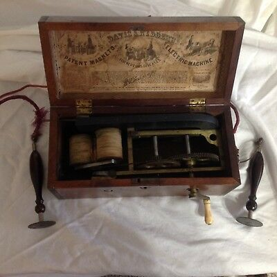 1850's Electric Magneto Machine for nervous disorders. Davis & Kidders's