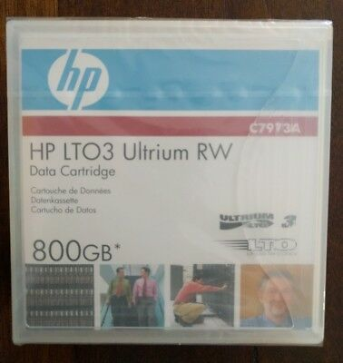 HP LTO3 Ultrium 800Gb RW Data x 1 Cartridge: C7973A Brand New, Sealed