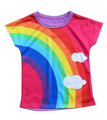 Girls Rainbow T-shirt :: designed by deezo kids  FREE DELIVERY :: size 02-14