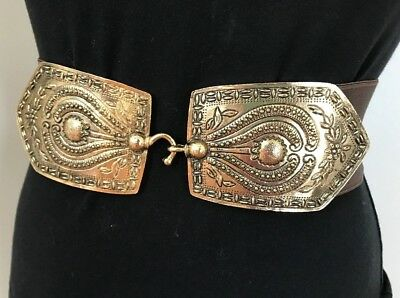 Vintage Accessocraft NYC 1970's Stretch Belt Deco