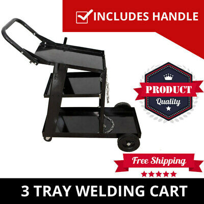 Welding Cart Welder Trolley Cart Plasma Cutter Storage Bench Tig Mig Arc MMA