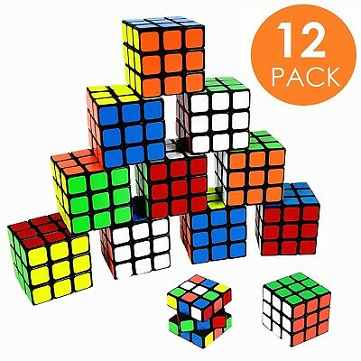 12 x Mini 5x5x5 Party Puzzle Toy Rubic Rubik Rubix Fast Speed Smooth Magic Cube