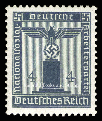 EBS Germany 1942 4 Pfennig Nazi Party Official Dienstmarke Michel 157 MNH**