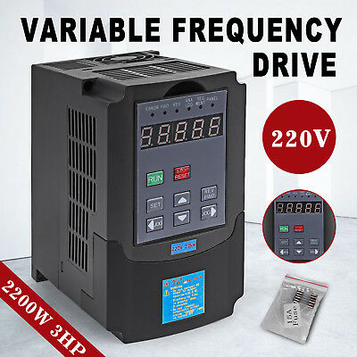 Top 2.2Kw 220V 3Hp 10A Vfd Variable Frequency Drive Inverter Ce Quality