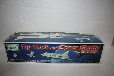 1999 Hess Toy Truck and Space Shuttle with Satellite    New in the Box !