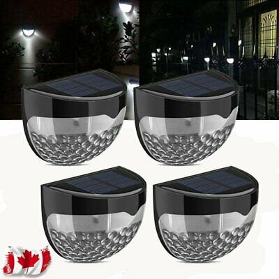 4/2/1PC Solar Powered Wall Mounted 6 LED Light Outdoor Garden Fence Lamp NEWEST