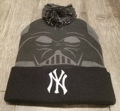 62790721f NY YANKEES DARTH Vader Beanie Knit Hat Star Wars Night 8/25/17 SGA ...