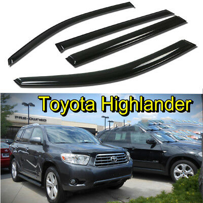 For Toyota Highlander 2008 2009 2010 2011 2012 2013 Window Visor Sun Guards Vent