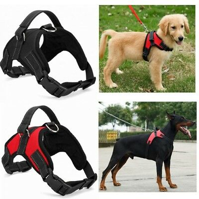 Pets Dog No-Pull Harness Pulling Adjustable Mesh Puppy Small Medium Extra Large