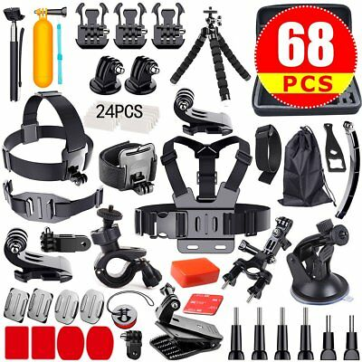 68in1 Accessories Pack Case Chest Head Monopod For GoPro Go pro HD Hero 4 3+ 3 2