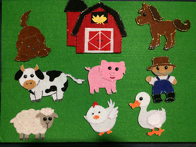 FELT BOARD STORY/NURSERY RHYME TEACHER RESOURCE - OLD McDONALD HAD A FARM