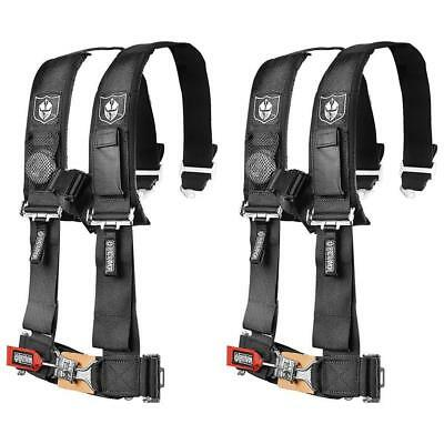 Pro Armor (2 Pack) Black 4 Point 2″ Safety Harness With Sewn In Pads Rzr A114220