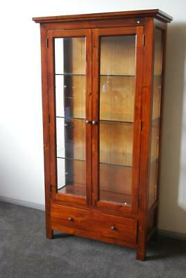Monash Glass Display Brand New Solid Hardwood Furniture FULLY ASSEMBLED