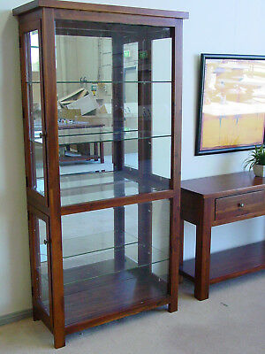 Victoria Glass Display Brand New Solid Hardwood Furniture FULLY ASSEMBLED