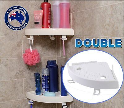 2X Quick Fix Corner Snap Shelf Grip Up to 4kg Easy wall Bathroom Mounted R6