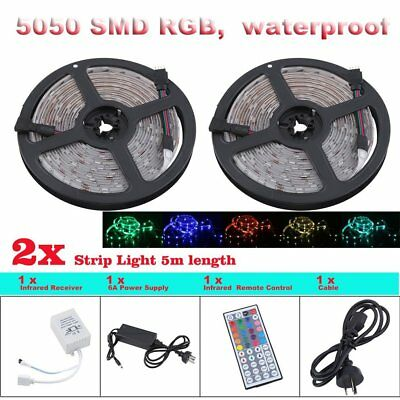 10m Flexible Bright LED Strip Lights 12V Waterproof 5050 SMD Cool White 300
