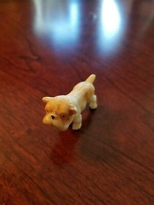 Vintage Minature Plastic Bulldog Marked Japan Detailed