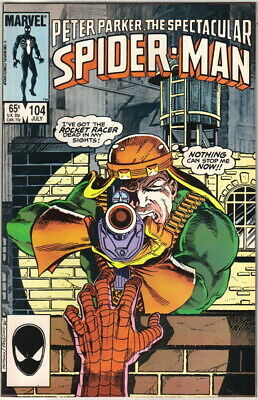 The Spectacular Spider-Man Comic Book #104 Marvel 1985 VERY FN/NEAR MINT UNREAD