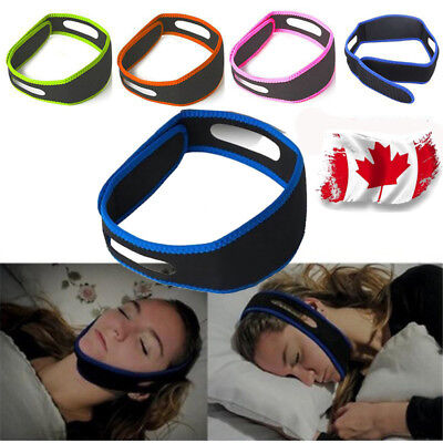 Snore Stop Belt Anti Snoring Cpap Chin Strap Sleep Apnea Jaw Solution NEW