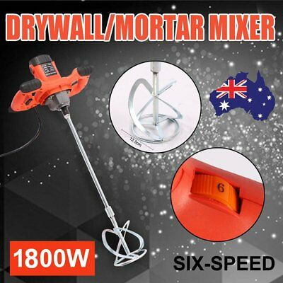 Drywall Mortar Mixer Plaster Cement Tile Adhesive Render Paint Six-speed Control