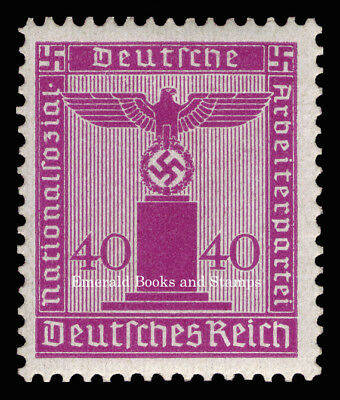 EBS Germany 1942 40 Pfennig Nazi Party Official Dienstmarke Michel 164 MNH**
