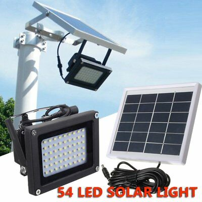 54 LED Solar Powered Flood Light Sensor Outdoor Garden Security Waterproof Lamp