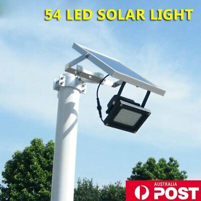 Solar 54 LED Light Sensor Flood Spot Lamp Garden Outdoor Security Waterproof OZ