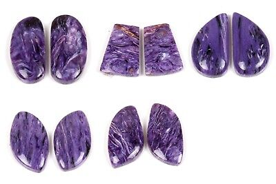 Excellent Natural CHAROITE PAIR Cabochon Gemstone Choose From Variation # 39421