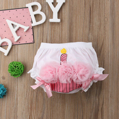 Cute Infant Baby Girls Ruffle Cupcake Diaper Cover Bloomer Briefs Shorts Bottoms