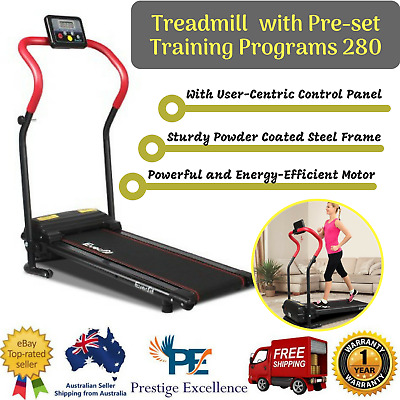 New Home Electric Treadmill Everfit Home Gym Exercise Cardio Machine Fitness Red