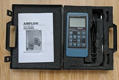 Airflow TA-5 Anemometer / Thermometer with Carry Case