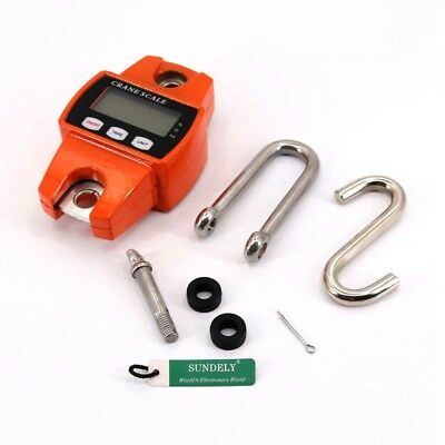 Mini Crane Scale Portable LCD Digital Electronic Hook Hanging Weight 300kg/600lb