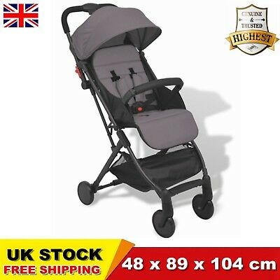Baby Lightweight Pram Buggy Travel Pushchair Stroller Carry Bag Grey CHIC SALE