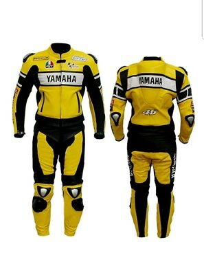 Yamaha Yellow Black Motorcycle Racing Leather Suit -Ce Approved Full Protection