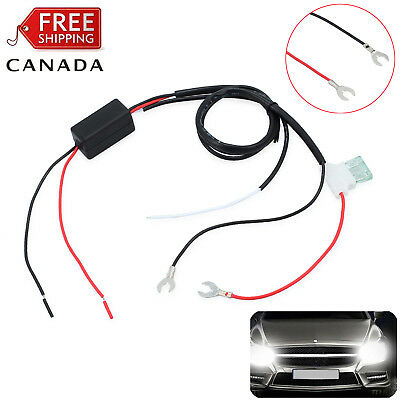 Car LED Daytime Running Light Dimmer Automatic ON/OFF Control Relay Harness DRL