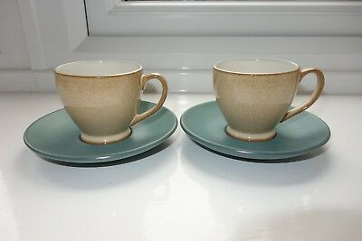 Two Denby Luxor Espresso or Coffee Cups and Saucers-BNWT First Quality