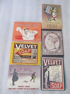 6 Vintage 1985 repro Australian Postcards celebrating VELVET 85 years